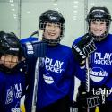 Kids playing hockey in BC
