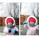 Snow Day; toddler in the snow; victori